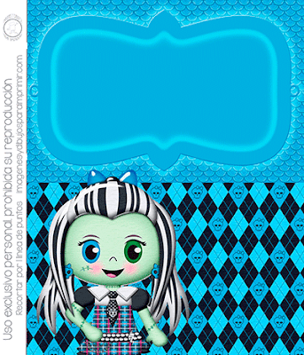 Invitaciones de monster high para editar gratis