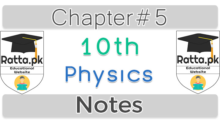 Class 10 Chapter 5 Physics Notes