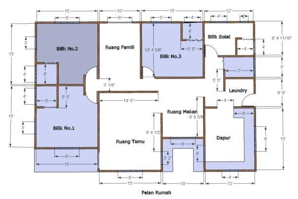 Bina Rumah Sendiri Pelan Rumah