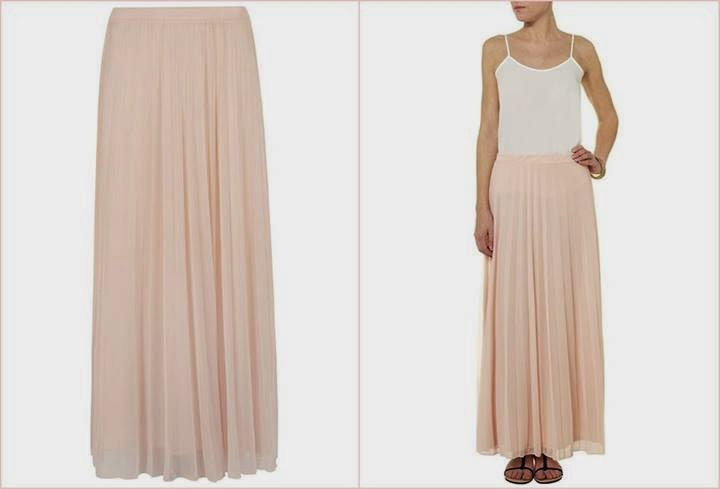 Dorothy Perkins Blush Pleated Maxi skirt