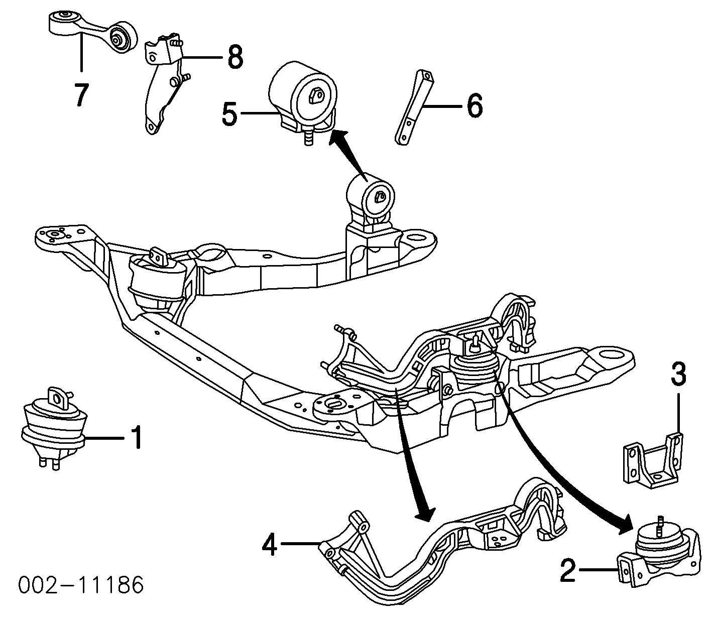 medium resolution of engine trans mounts