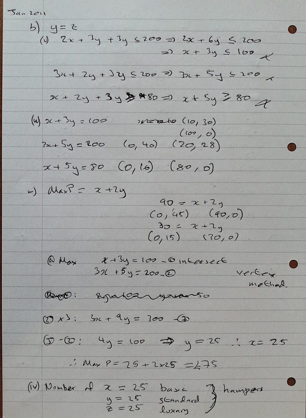 A Level Maths Notes: AQA Decision 1 (D1) Winter 2011 Exam