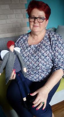 Krysia to uszyła - anielica pani Krysia i pani Krysia razem :-) prezent na urodziny dla niej