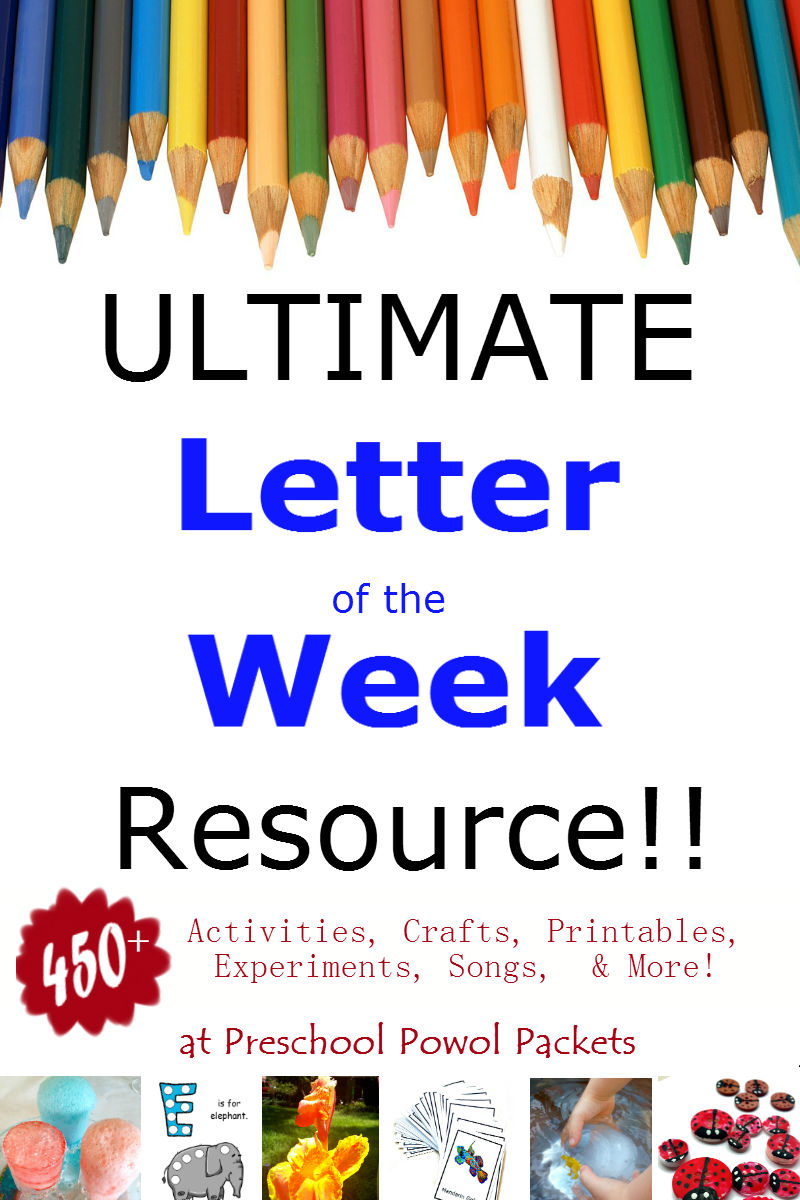Ultimate Letter of the Week Resources | Preschool Powol Packets