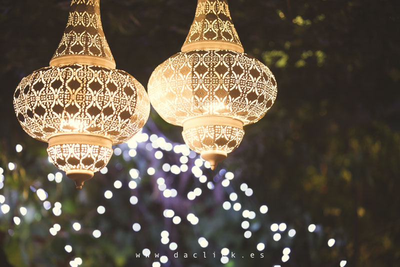 decoración de boda - luces