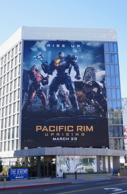 Pacific Rim Uprising movie billboard