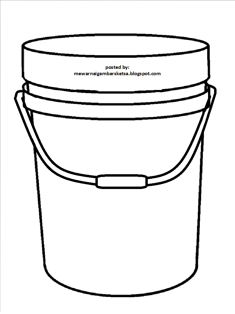 Gambar Mewarnai Gambar Sketsa Peralatan Dapur Contoh Ember