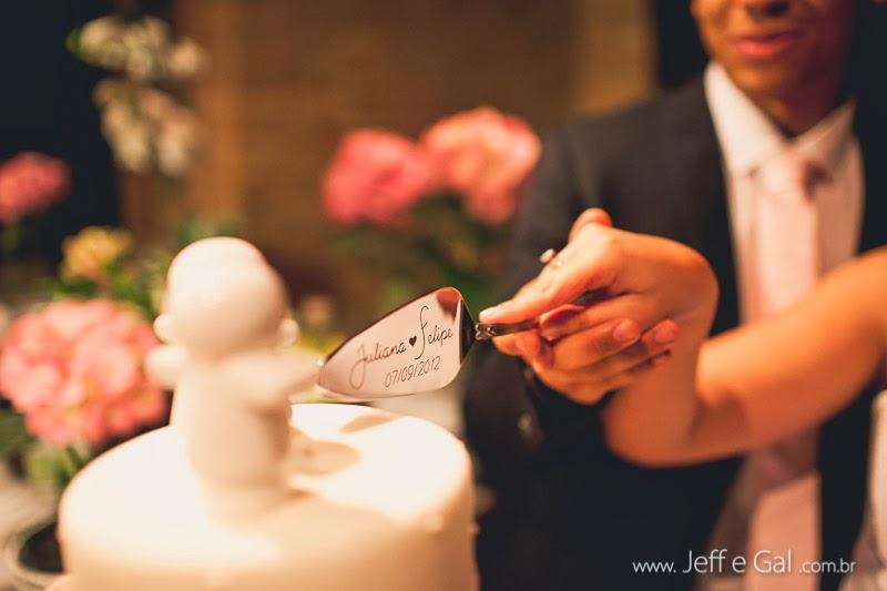 Espátula para corte do bolo de casamento