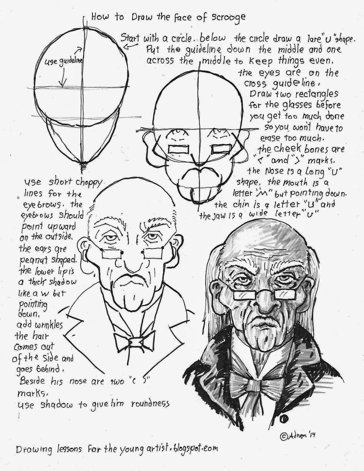 How to Draw Worksheets for The Young Artist How To Draw The Face – Drawing Worksheets