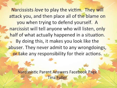 Narcissists love to play the victim