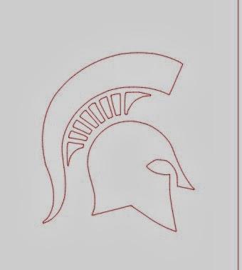 JPEG, cut, Silhouette Studio, free, Silhouette tutorial, Michigan State, Spartan, trace