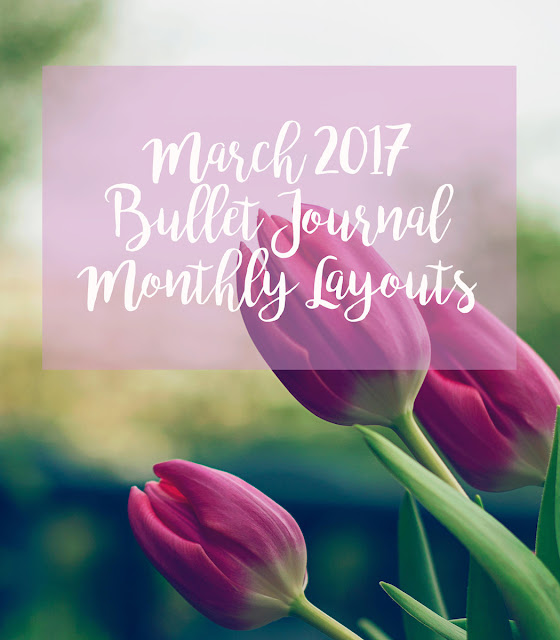 March 2017 Bullet Journal Bujo Monthly Layout Spreads