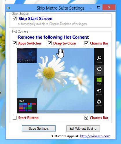 Windows 8 Metro Arayüzünü Kaldırmak
