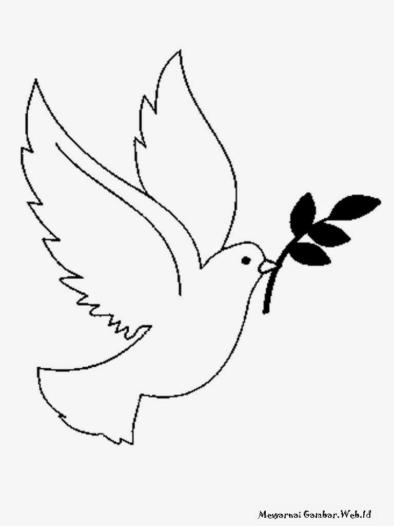 Doves Coloring Pages - Democraciaejustica