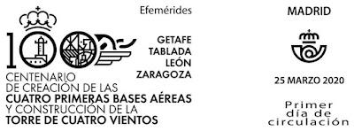 Filatelia - Centenario Bases aéreas - 2020 - Matasellos