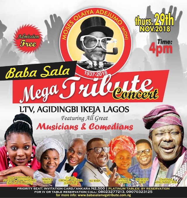 Baba Sala Mega Tribute Concert:  Celebrating The Father Of Nigerian Comedy
