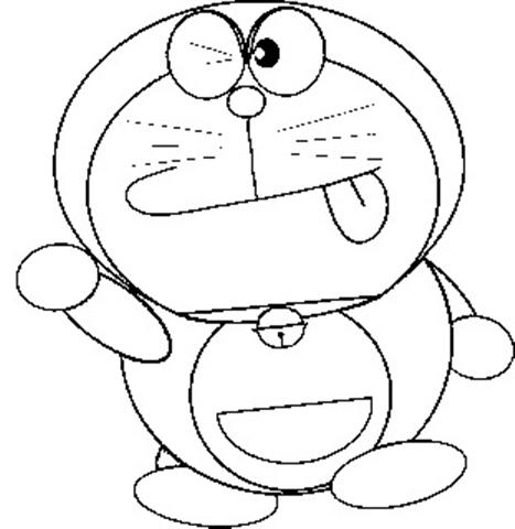 Doraemon Coloring Pages Team colors