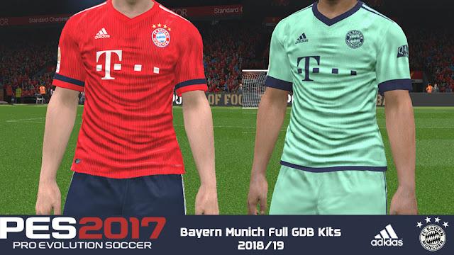 d005cb31a PES 2017 Bayern Munich Full GDB Kits 2018 19 - Micano4u
