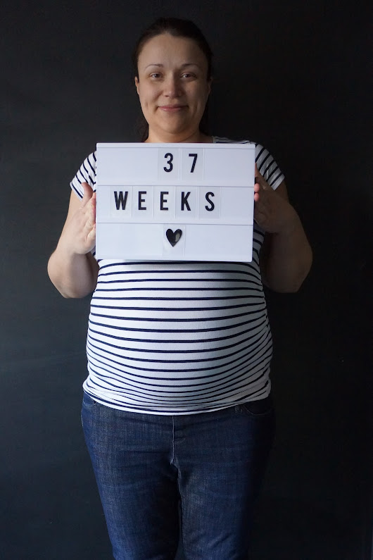 I'm 37 weeks pregnant. Full-term. On maternity leave. And very excited!