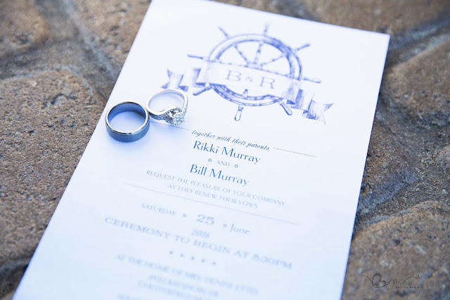 nautical wedding invites plus rings