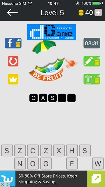 Food Quiz-Indovina il marchio soluzione pacchetto 5 livelli (1-12)