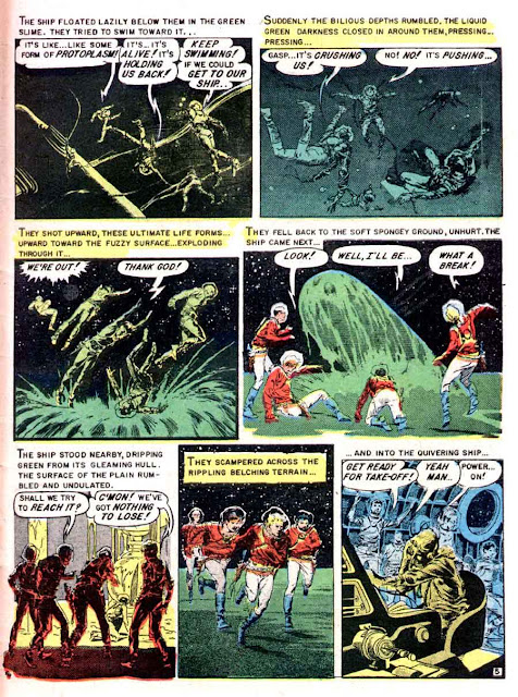 Weird Science-Fantasy v1 #24 ec comic book page art by Al Williamson