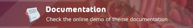 FoodHall Responsive Food Blogger Theme Features Documentation Demo