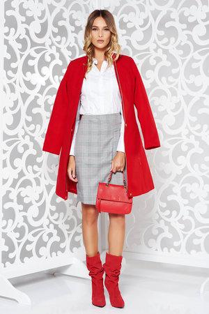 palton dama rosu stofa