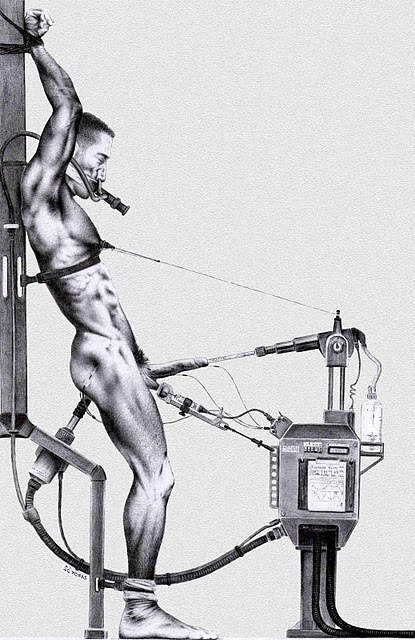 Bondage tit milking machine art have