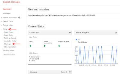 Cara membuat google sitemap untuk blog