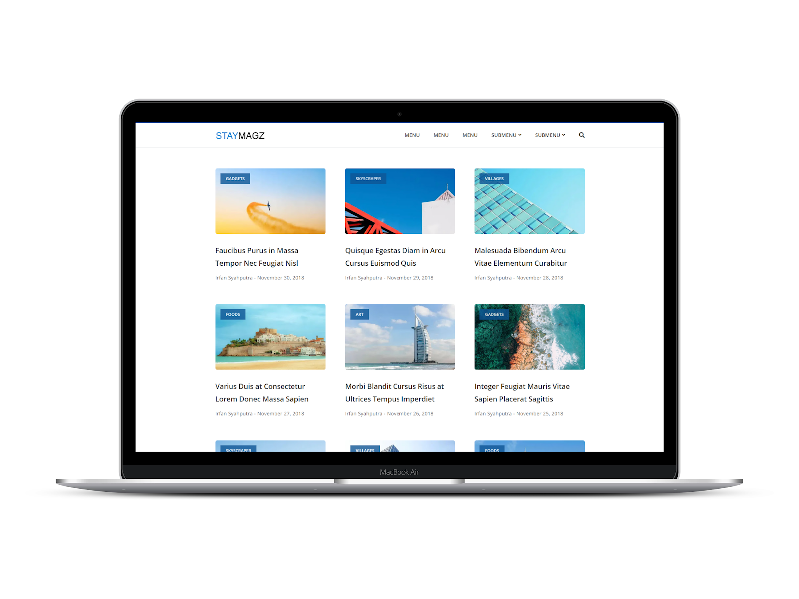 StayMagz Blogger Template