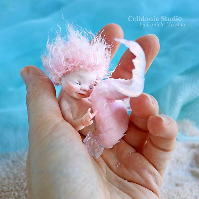 Baby Sirena in Pasta Polimerica