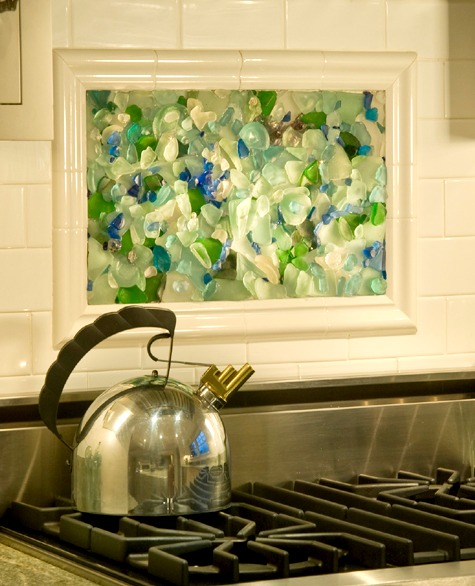 Seaglass Mosaic Kitchen Backsplash