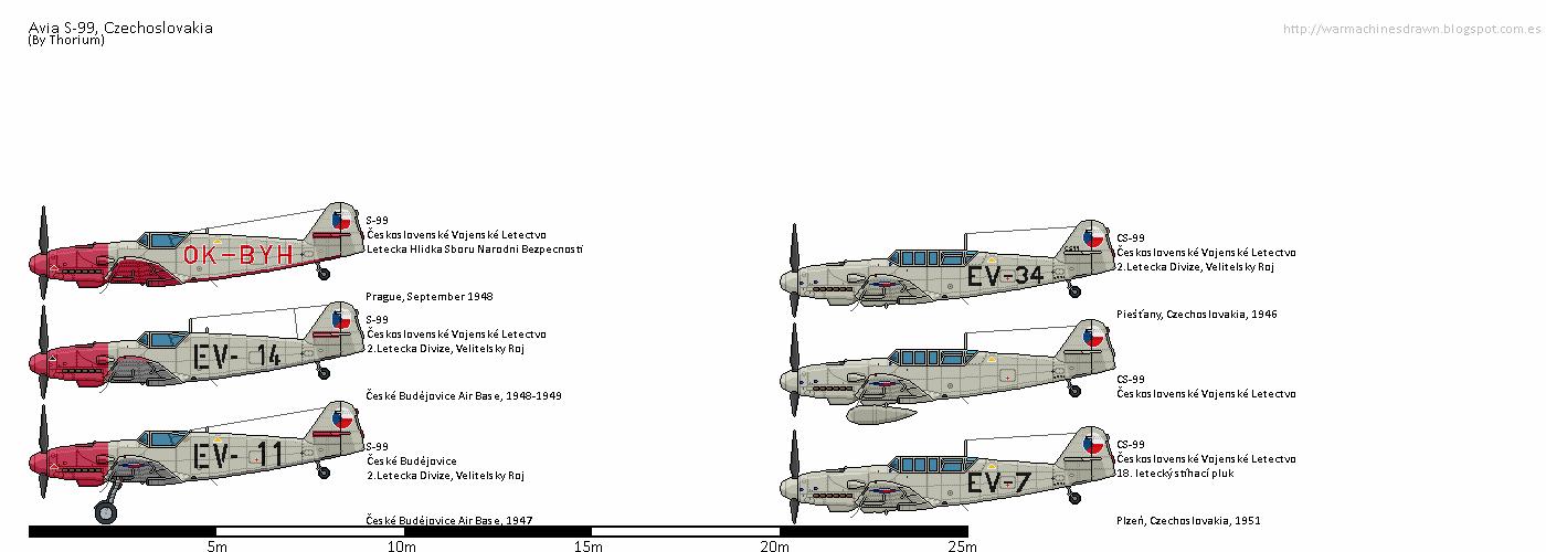 war machines drawn avia s 99 cs 99