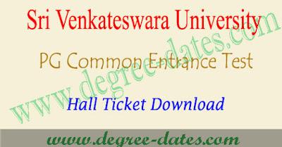 SVU PGCET 2018 hall ticket download anucet admit card results