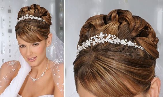 Wedding Hairstyles Updos With Tiara Veil