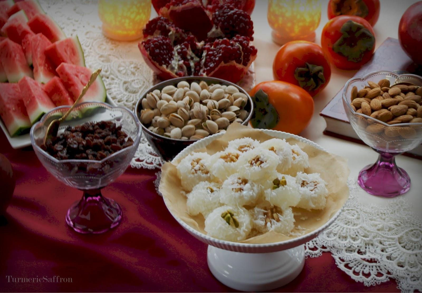 Sugar Bowl Rose Bowl >> Turmeric & Saffron: Shab-e Yalda 2014: Baslogh Recipe to Celebrate the Persian Yalda Night