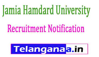 Jamia Hamdard University Recruitment Notification 2017