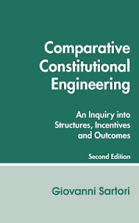 Comparative constitutional engineering: an inquiry into structures, incentives and outcomes - G. Sartori