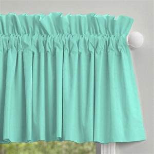 Teal colored window valances