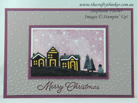 #thecraftythinker  #stampinup  #christmascard #cardmaking #xmascard , Hearts Come Home, Bokeh Dots, Christmas card, Xmas card, Stampin' Up Australia Demonstrator, Stephanie Fischer, Sydney NSW