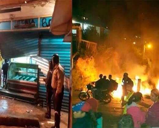 ¡ENTRE PROTESTAS Y SAQUEO! Los Teques vivió una noche de tensión cuando la GNB entró a edificios a llevarse a manifestantes (+Video)