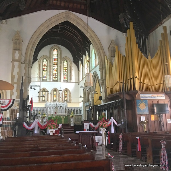 interior of Holy Trinity Cathedral in Port of Spain, Trinidad