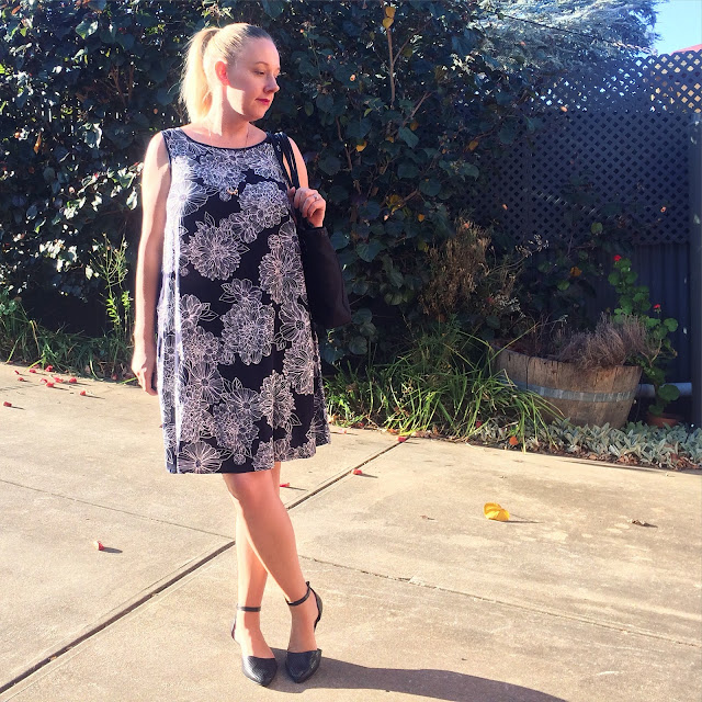 Target floral swing dress | Almost Posh