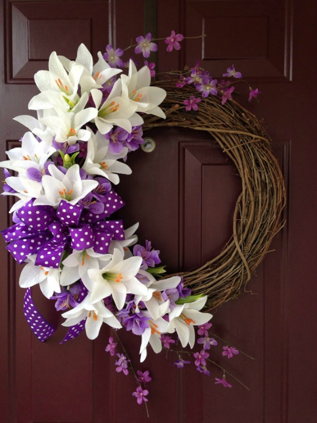 Gorgeous Easter Lily Grapevine Wreath