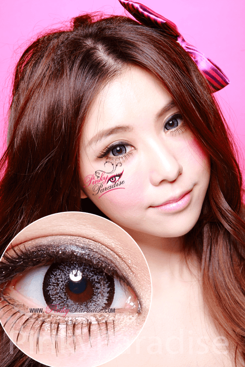 Geo Super Size Nudy Grey Circle Lenses (Colored Contacts)