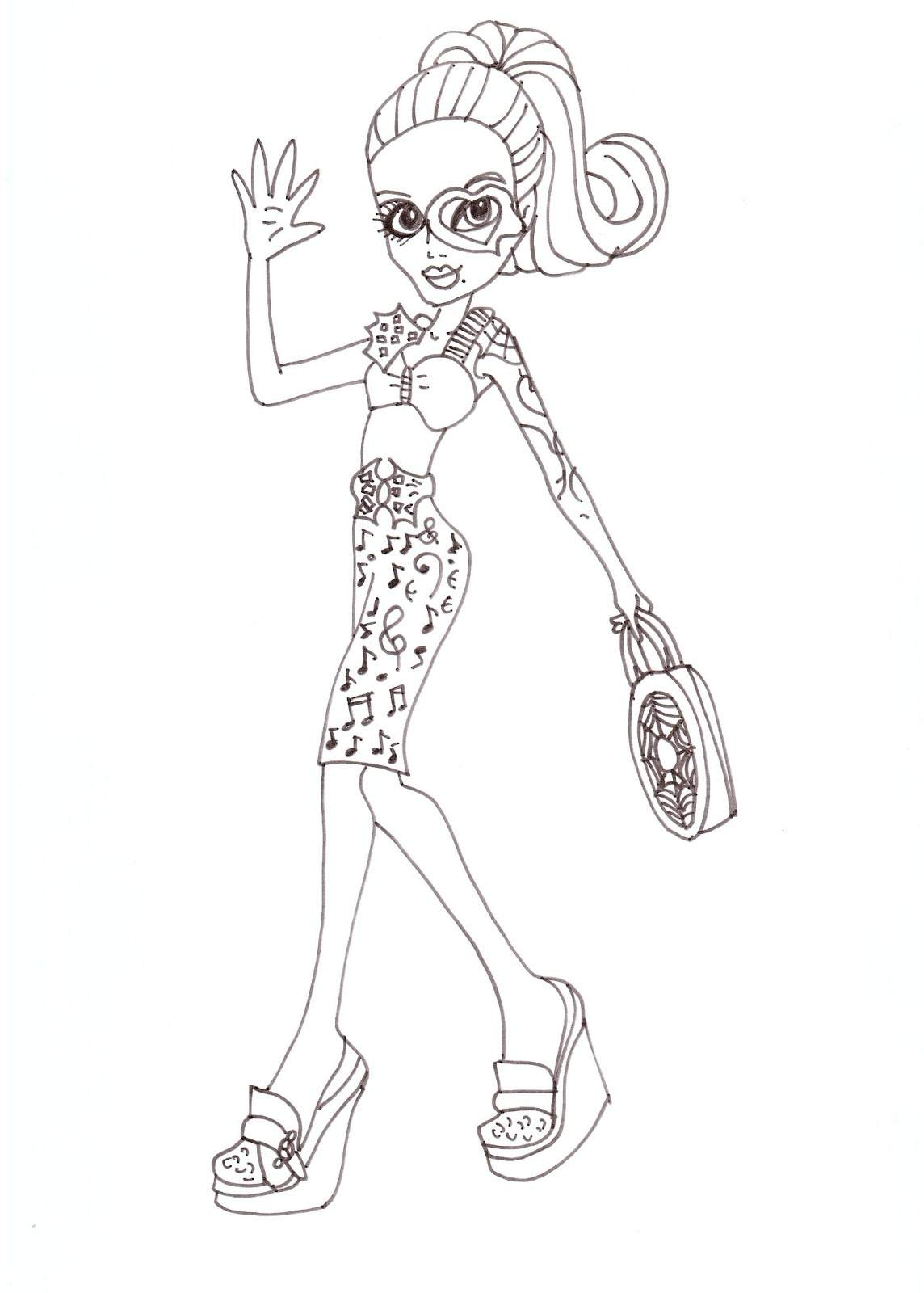 Free Printable Monster High Coloring Pages: Operetta