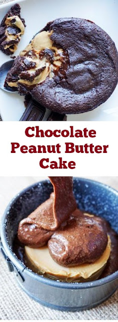 Chocolate Peanut Butter Cake Recipe #chocolate #peanutbutter #cakes #desserts