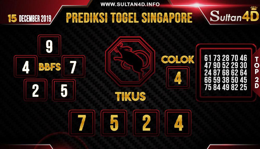 PREDIKSI TOGEL SINGAPORE SULTAN4D 15 DESEMBER 2019