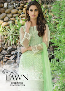 Origins Lawn Summer Eid-Ul-Adha Unstitched Collection 2016-17